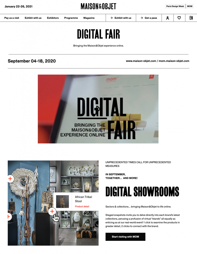 Digital Fair - Maison&Objet 2